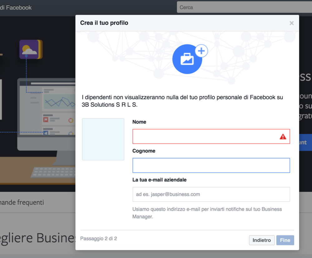 facebook business 04 Facebook Business: come creare due account facebook ads